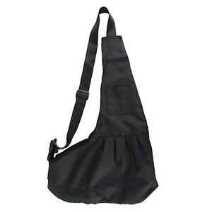 Black Dog Pet Carrier Bag Single Shoulder Sling Tote Carrying Pouch Oxford Cloth