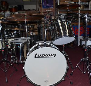 John Bonham Stainless Steel Ludwig Kit with Paiste 2002 Cymbals