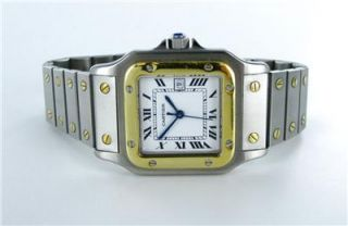 Gents Cartier Santos 18kt Yellow Gold Stainless Steel Automatique Watch