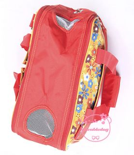 Red Nylon Love Heart Portable Bag Travel Carrier Purse Tote Fr Small Pet Dog Cat