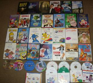 Lot of 37 Childrens Family DVDs Baby Einstein Bob Christmas Disney