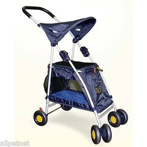 Outward Hound Walk 'N Roll Pet Stroller for Dogs Cats Small Pets Up to 20 Lbs