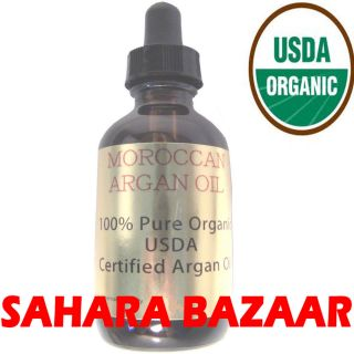 100 Pure Argan Oil Certified Moroccan Organic Oil Skin Hair Antiaging 4oz