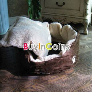 Door Pet Round Puppy Dog Cat Soft Winter Warm Big Bed House Nest Basket Pad Mat