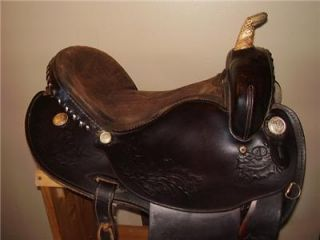 "16"" Used Blue Ridge Barrel Western Saddle Horse Tack"