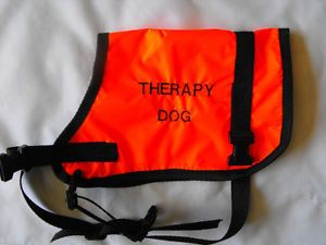 Therapy Dog Vest LRG Orange Coat Cape Blanket USA Made Get It Fast