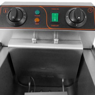 12 Liter 1500W Electric Kitchen Countertop Deep Fryer Dual Tank Commercial