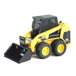 Bruder Caterpillar Skid Steer Loader Dump Truck Toy Metal Sand Dirt Beach New