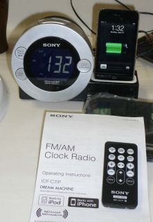 Sony ICF C7IP Dream Machine Clock Radio with iPhone or iPod Dock and Remote