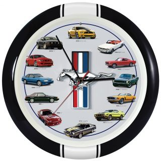New Ford Mustang Sound Clock Muscle Car Sounds 12 Models 1960s to The Present