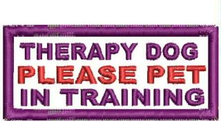 Therapy Dog Patches
