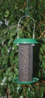 Bird Feeder Mini Metal Thistle Birdfeeder with Tray