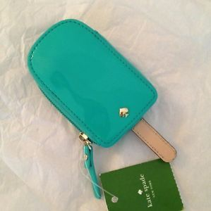 Kate Spade Popsicle Coin Purse Change Wallet Bright Bery New Turquoise
