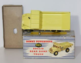 Dinky Toys 965 Euclid Dump Truck Early Black Label NMIB