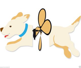 Yellow Lab Puppy Dog Wind Spinner Premier Labrador Garden Lawn Yard Windspinner