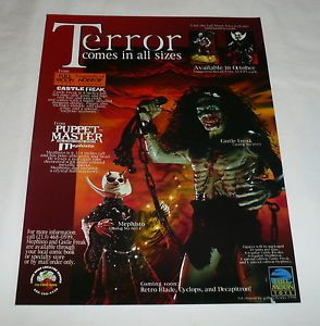 1998 Full Moon Toys Ad Page Castle Freak Puppet Master
