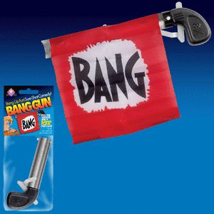 Bang Gun Flag Comedy Clown Prop Magic Trick Toy Pistol Gag Joke Funny Joker