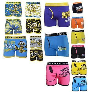 Mens Crosshatch Cotton Rich Boxer Shorts with Elastic Funny Novelty Comedy Rude