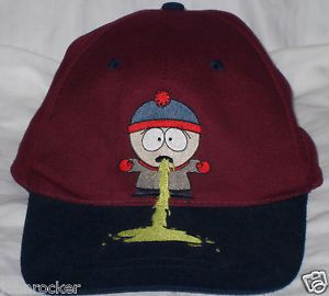 Vintage Comedy Central South Park Stan Marsh Throwing Up Adjustable 1FIT Hat Cap