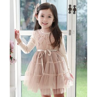 Pretty Cute Girl Kids Baby New Long Sleeved Net Veil Tutu Dress 1 7Years