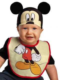 Infant Baby Boys Mickey Mouse Costume Hat Bib 0 6 Months