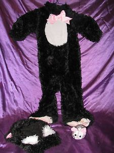 Halloween Girls Costume 18 24 Month Baby Infant Black Furry Cat Mouse Hat