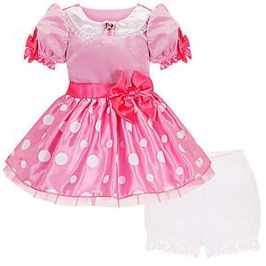 Minnie Mouse Pink Costume Toddler Baby Girls 12 18 Months Dress New