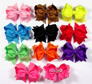 Baby Infant Girl Costume Boutique Hair Bows Clips for Hat Headbands U Pick