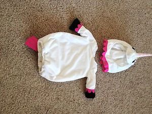Pottery Barn Baby Girl Unicorn Costume Halloween RARE 0 6 Months Infant 6 Months