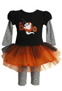 New Bonnie Baby Girls Halloween or Dress Up Tutu Dress Costume w Leggings