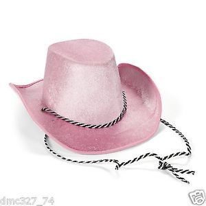 1 Birthday Party Costume Accessory Dress Up Baby Sized Western Cowgirl Hat Pink