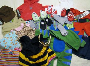 Bitty Baby Twins Boy and Girl Clothes Lot Halloween Costumes Shoes and More