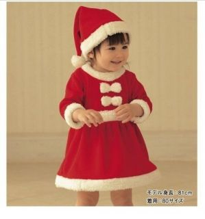 Baby Girls Christmas Dress Hat Outfit Costume Party Dress Set 2 3T