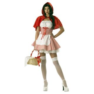 Miss Red Riding Hood Beer Girl Tavern Adult Women Outfit Halloween Costume s M L