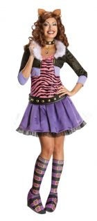 Monster High Deluxe Clawdeen Wolf Costume Adult New