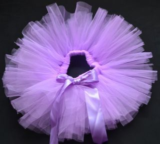Purple Party Costume Ballet Kids Dancing Girl Toddler Child Baby Tutu Skirt