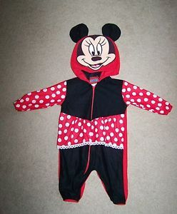 Disney Mickey for Kids Baby Girls Minnie Mouse Costume Romper Hoodie 9 Months