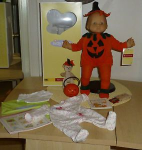American Girl Pleasant Co Bitty Baby w Box Halloween Pumpkin Outfit Costume