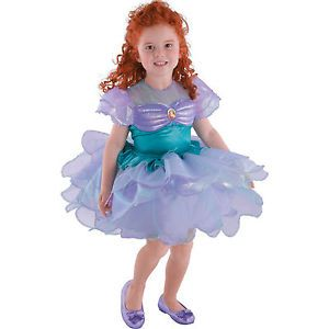 New Size 2T Disney Princess Ariel Little Mermaid Toddler Girl Tutu Dress Costume