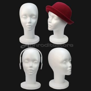 Durable Styrofoam Foam Mannequin Manikin Head Model Display Wig Hair Headset Hat