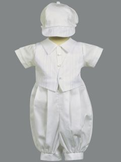 New Baby Boy Christening Baptism Cotton Suit Vest Outfit Set Tristan 0 18M