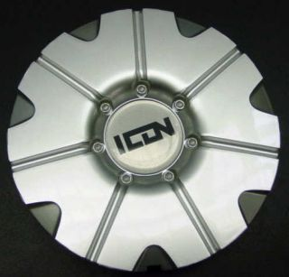 Import Icon Custom Silver Wheel Center Cap with Logo