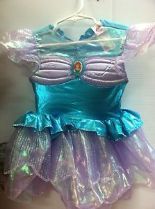 New Disguise Disney Princess Ariel Little Mermaid Dress Up Costume Toddler 3T 4T
