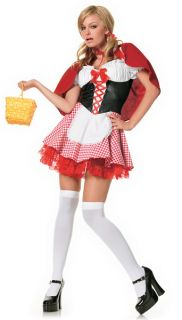 $55 Cute Womens Little Red Riding Hood Halloween Costume XS