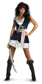 Womens Sexy Jack Sparrow Pirates Costume