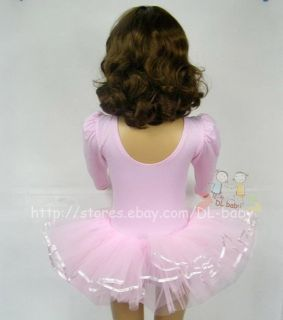 Pink White Black Baby Toddler Girl Leotard Ballet Tutu Costume Dress 3 8 Yrs