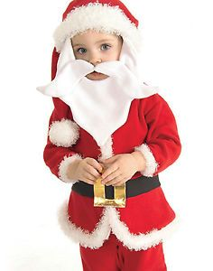 Infant Baby Plush Santa Boy Christmas Holiday Halloween Party Toddler Costume