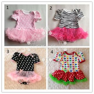 Newborn Baby Girl Onesie Top Skirt Tutu Skirt Ruffle Lace Outfit Photo Costume