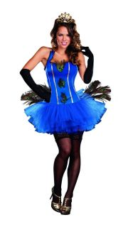 Sexy Royal Peacock Blue Tutu Dress Costume Adult New
