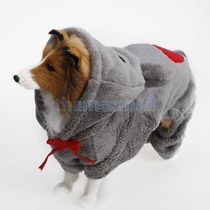 Pet Dog Jumpsuit Hoodie Baby Bear Hooded Coat Costume Outfit Apparel XS s M L XL